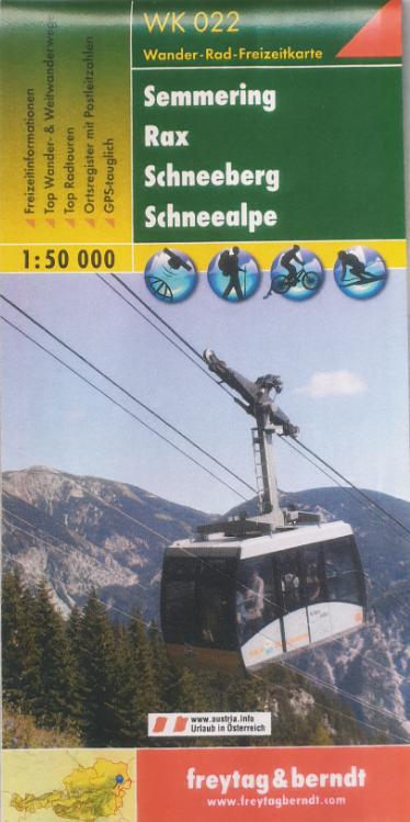 Wander - Rad - Freizeitkarte 07-FB - Semmering, Rax, Schneeberg, Schneealpe