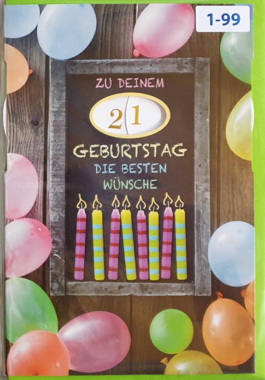 Einstell- Geburtstagsbillett 03-52-8000
