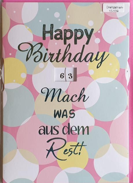 Einstell- Geburtstagsbillett 03-52-4421