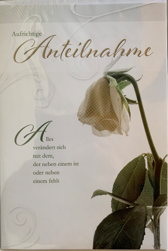 Trauerbillett - Kassette 03-81-02795