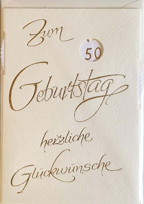 Einstell- Geburtstagsbillett 03-52-9876