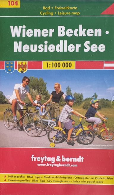 Rad - Freizeitkarte 07-FB - Wiener Becken - Neusiedler See