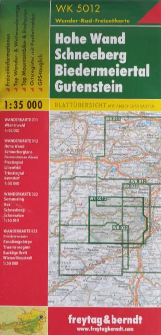 Wander - Rad - Freizeitkarte 07-FB - Hohe Wand, Schneeberg, ..