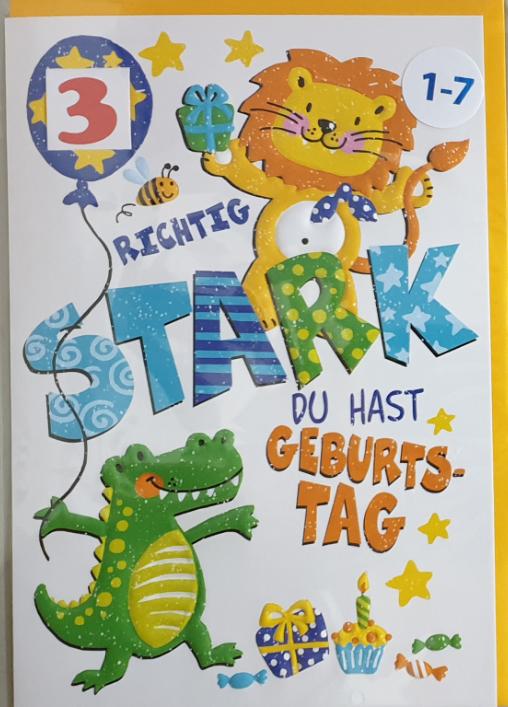 Einstell- Geburtstagsbillett 03-52-2045