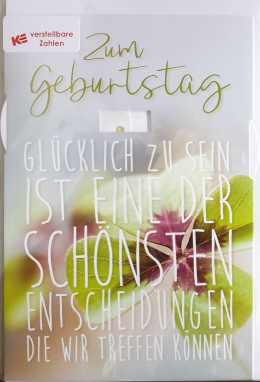 Einstell- Geburtstagsbillett 03-52-6009
