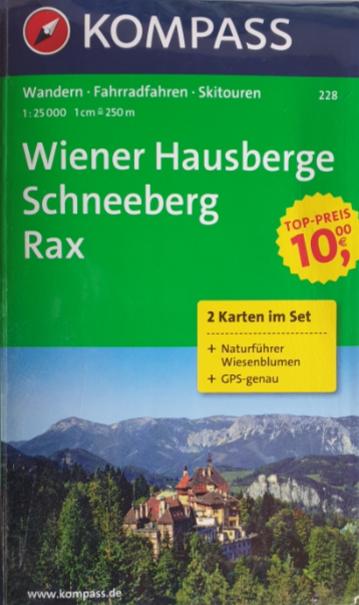 Wander - Rad - Skitourenkarte 07-KO - Wiener Hausberge, Schneeberg, Rax