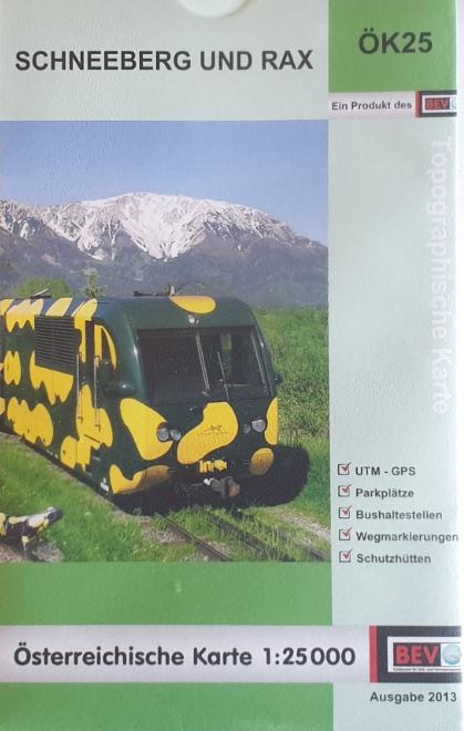 Bundesamtkarte 07-ÖK25 - Schneeberg - Rax