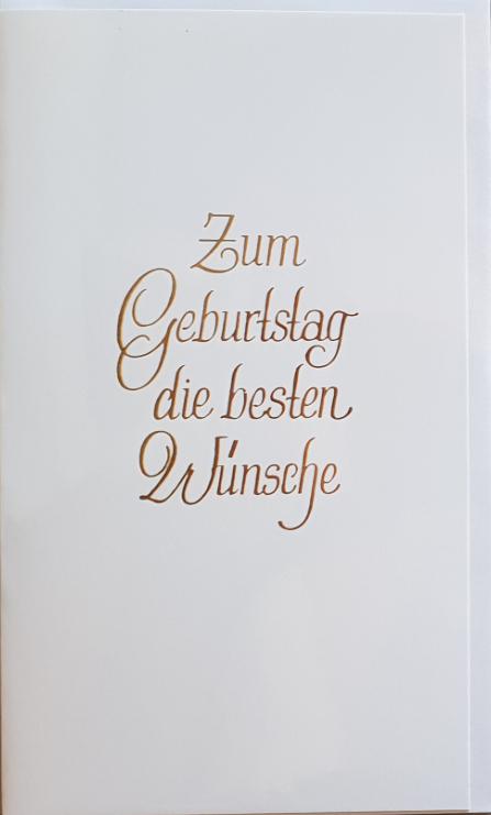 Geburtstagsbillett - Kassette 03-51-02025